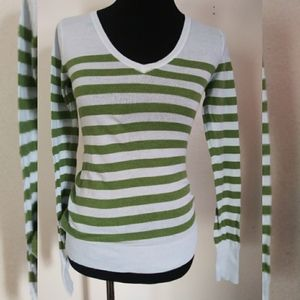 Mossimo Supply green and blue striped sweater